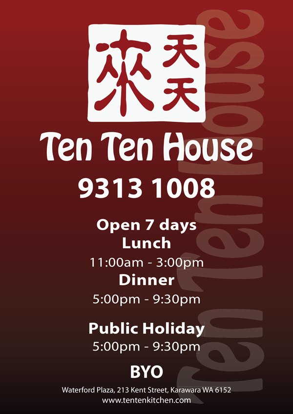 Ten Ten Kitchen Karawara Menu